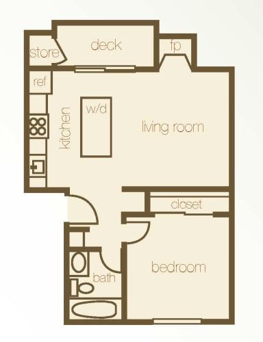 Floor Plan  Floor Plan 1 Bdr